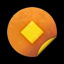 Badges, Grunge, Orange, Sticker Icon