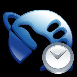 Clock, Hitchhikeguidetogalaxy Icon