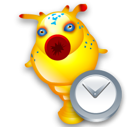 Clock, Hitchhikeguidetogalaxy Icon