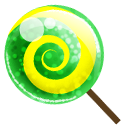Candy, Green Icon