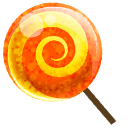 Candy, Orange Icon