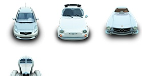 Silver Cars Icons