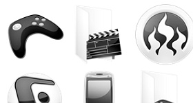 Crystal BW Icons