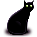 Black, Cat Icon