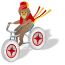Bicycle, Monkey Icon