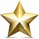 Golden, Star Icon