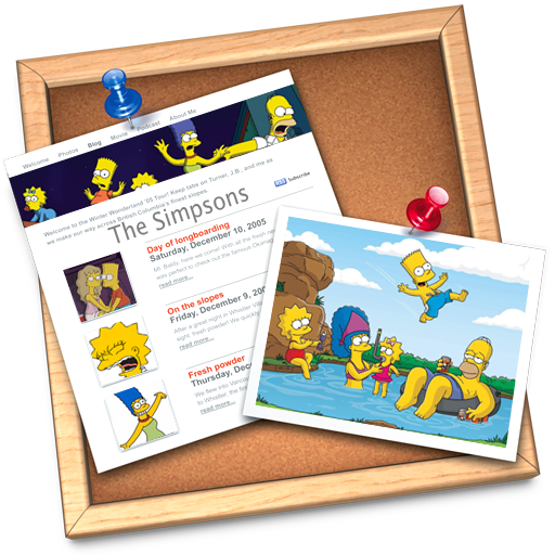 Iweb, Simpsons Icon