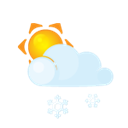 Lightcloud, Sleet, Sun Icon