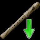 Down, Flute Icon