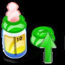 Bottle, Feeding, Up Icon