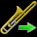Next, Trombone Icon