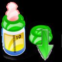 Bottle, Down, Feeding Icon