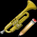 Trumpet, Write Icon
