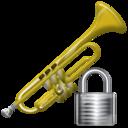 Lock, Trumpet Icon