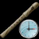 Clock, Flute Icon