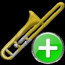 Add, Trombone Icon