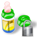 Bottle, Feeding, Lock Icon