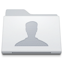 , Folder, Users, White Icon
