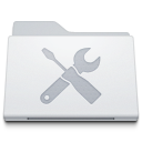 , Folder, Utilities, White Icon