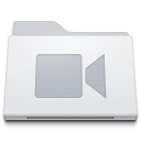 , Folder, Movies, White Icon