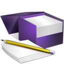 Box, Notes, v Icon