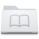 , Folder, Library, White Icon