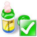 Bottle, Feeding, Ok Icon