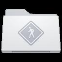 , Folder, Public, White Icon