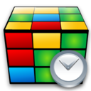 Clock, Cube Icon