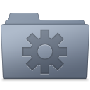 Folder, Graphite, Setting Icon