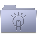 Folder, Idea, Lavender Icon