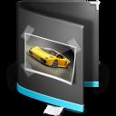 Black, Folder, Pictures Icon