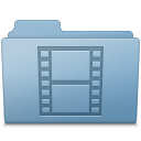 Blue, Folder, Movie Icon