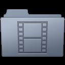 Folder, Graphite, Movie Icon