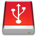 Drive, Red, Usb Icon