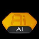 Ai, Illustrator, v Icon