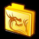 Dragon, Folder, Rising Icon