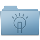 Blue, Folder, Idea Icon