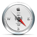 Safari, White Icon