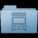 Blue, Folder, Transmit Icon