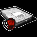 Disk, Network, Offline Icon