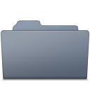 Folder, Graphite, Open Icon