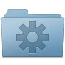 Blue, Folder, Setting Icon