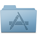 Applications, Blue, Folder Icon