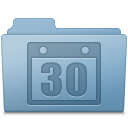 Blue, Folder, Schedule Icon
