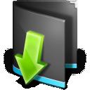 Black, Downloads, Folder Icon