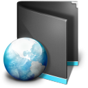 Black, Folder, Net Icon