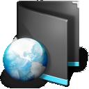Black, Folder, Net Icon