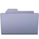 Folder, Lavender, Open Icon