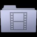 Folder, Lavender, Movie Icon